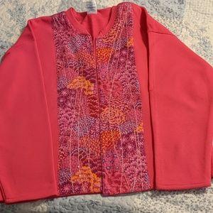 Handmade sweatshirt jacket